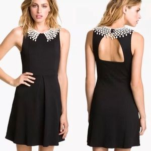 FREE PEOPLE Black Open Back Fit & Flare Dress